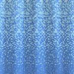 [B004ZGLY14] Kleine Wolke シャワーカーテン マンドリーノ ブルー 180x200cm 5179720305