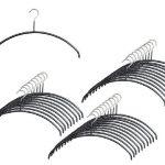 [B001JLQAE4] マワ すべり落ちない MAWAハンガー カットソー アンサンブル用 レディースライン Mサイズ 30本組 ブラック 3123