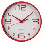 [B009HQH8O4] Premier Round Wall Clock レッド 2200571